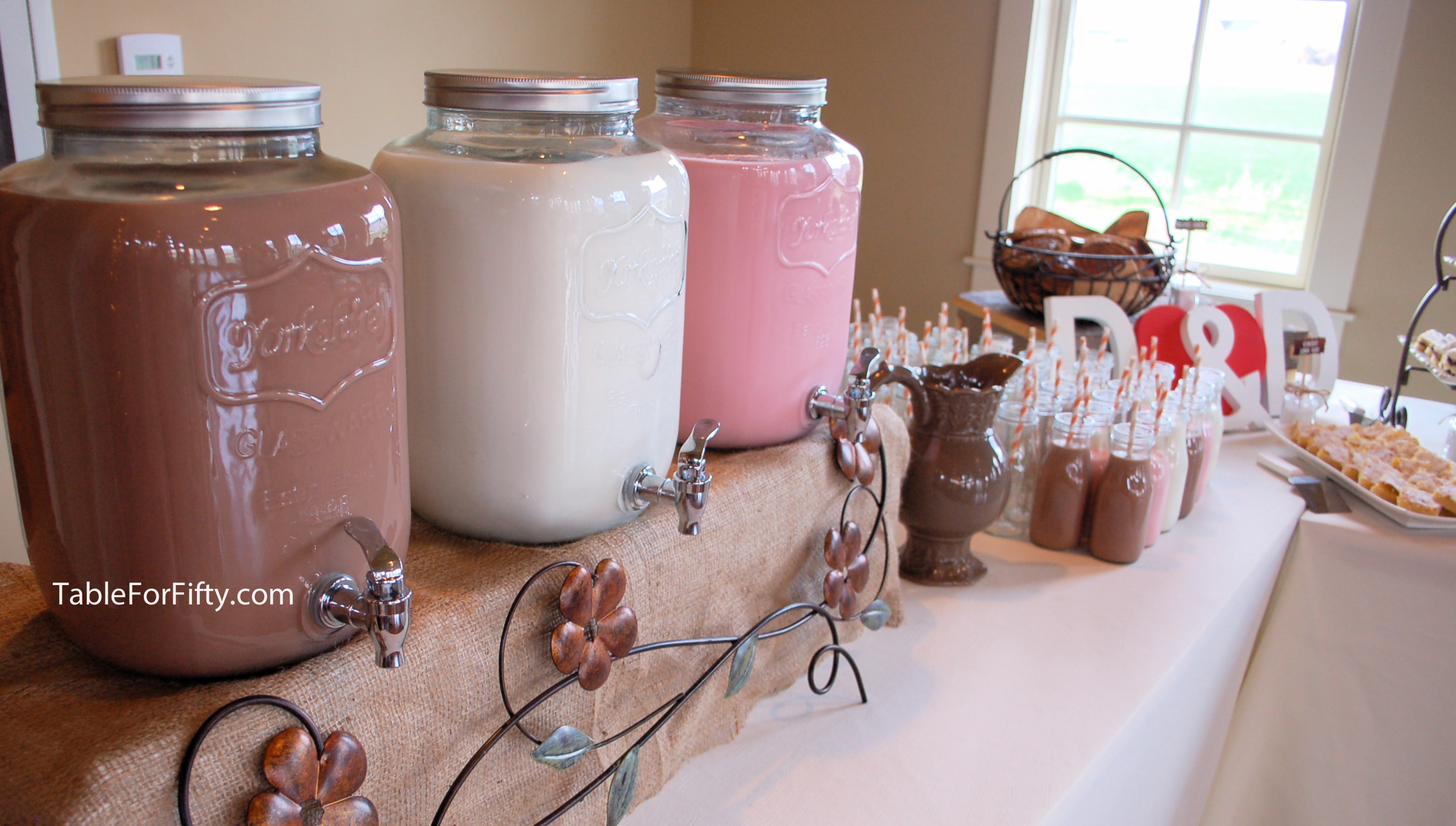 Milk And Cookies With Individual Serving Bottles